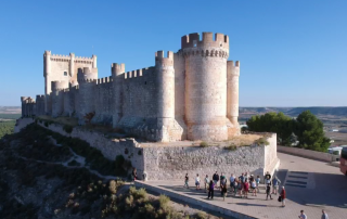 visiting the castle of Peñafiel in Ribera de Duero